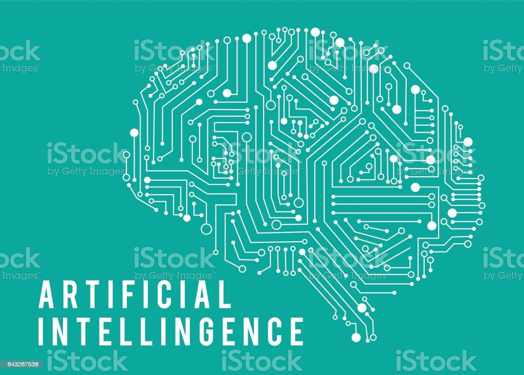 Illustration of intelligence artificia brain. vector art illustration
