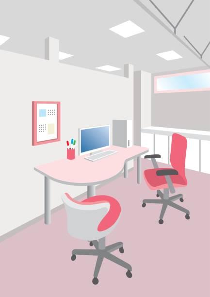 病院のインテリア/コンサルティング ルームのイラスト - 診察室点のイラスト素材/クリップアート素材/マンガ素材/アイコン素材