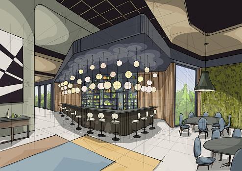 Illustration of interior design