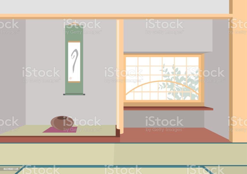 Abbildung Von Innen / Japanisches Zimmer U2013 Vektorgrafik