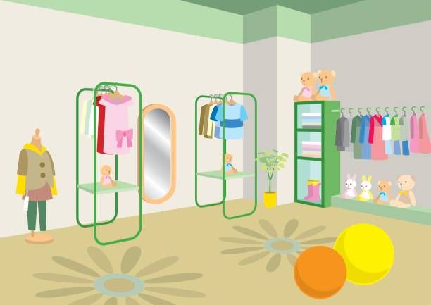 128 Kids Clothing Store Illustrations & Clip Art - iStock
