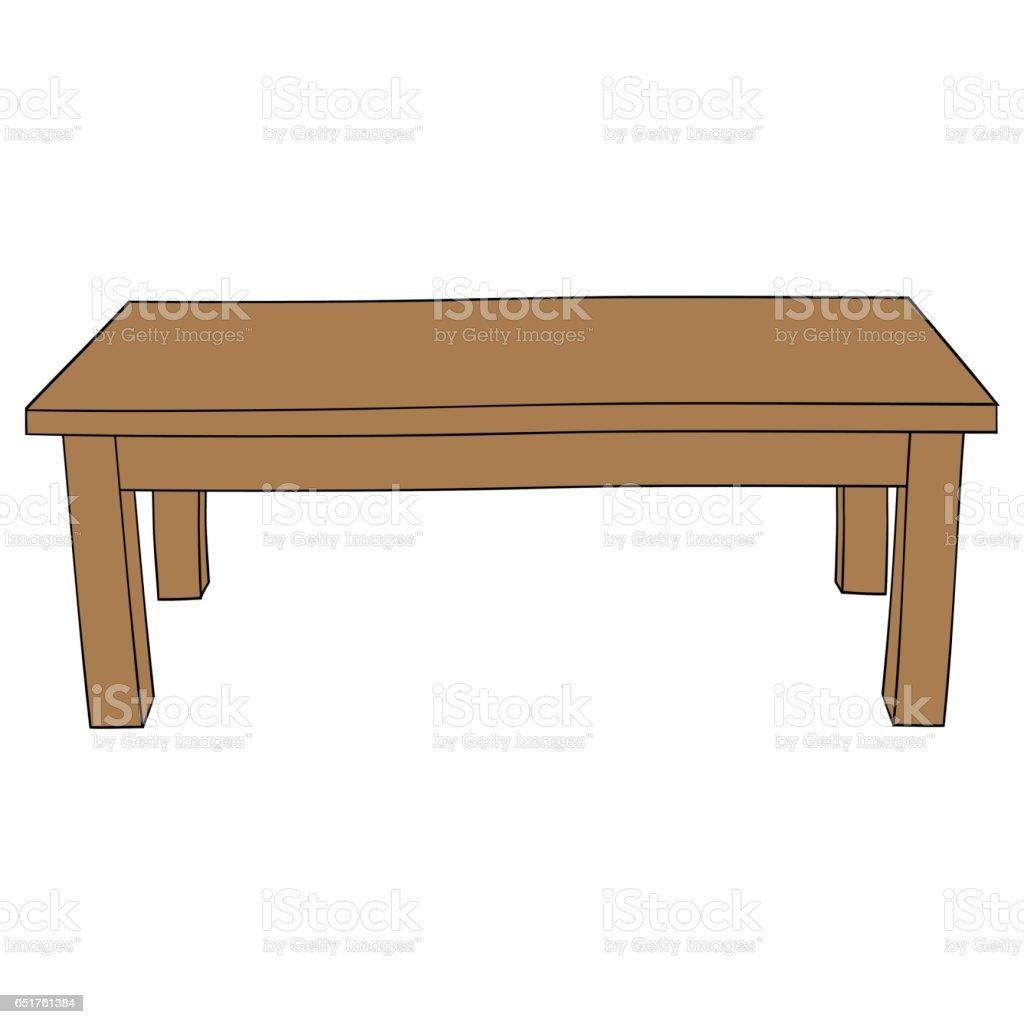 Illustration De Dessin Anime Isole Table Cliparts Vectoriels Et