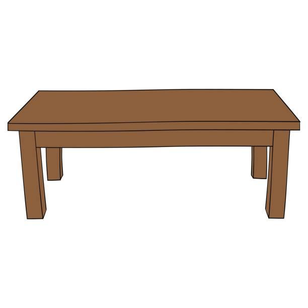 ilustrações de stock, clip art, desenhos animados e ícones de illustration of isolated cartoon table - coffee table