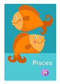 Illustration of isolated pisces