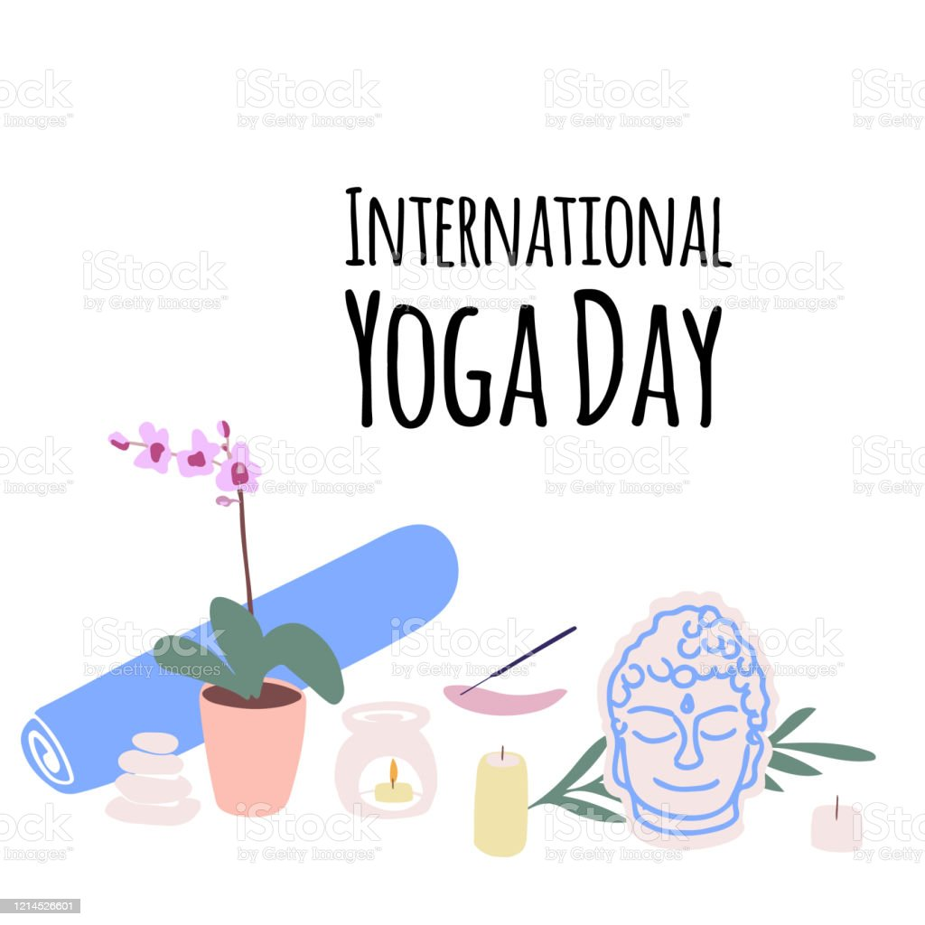 Illustration Of Items For Yoga And Meditation Yoga Mat Aroma Lamp Candles In Cartoon Style Stock Illustration Download Image Now Istock