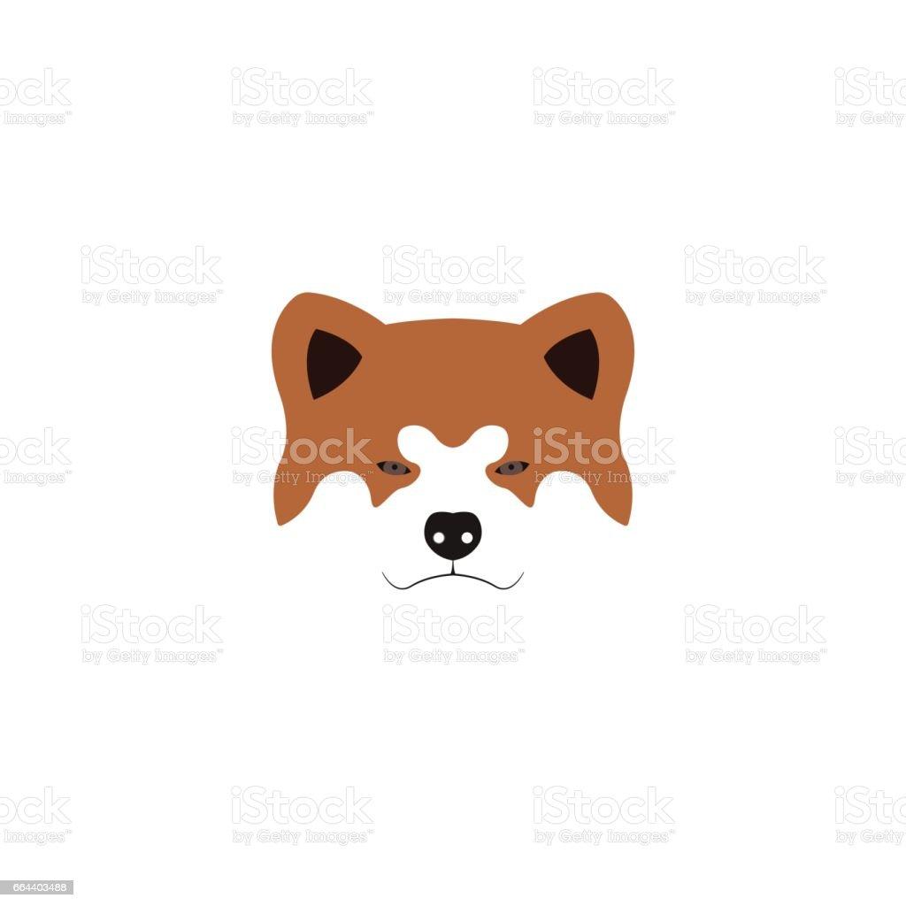 Illustration of Japanese Akita Inu dog.Vector illustration. – artystyczna grafika wektorowa