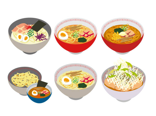 日本のラーメン料理のイラスト - ラーメン点のイラスト素材/クリップアート素材/マンガ素材/アイコン素材