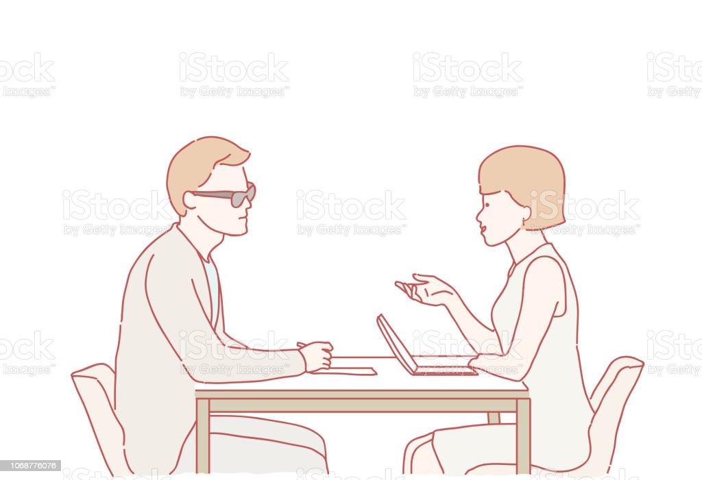 Ilustracion De Ejemplo De Entrevista De Trabajo Y Mas