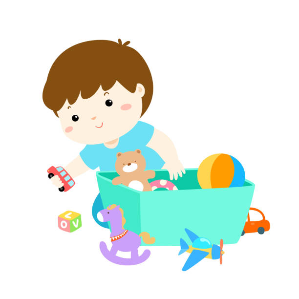 Best Clean Up Toys Illustrations, Royalty-Free Vector ...