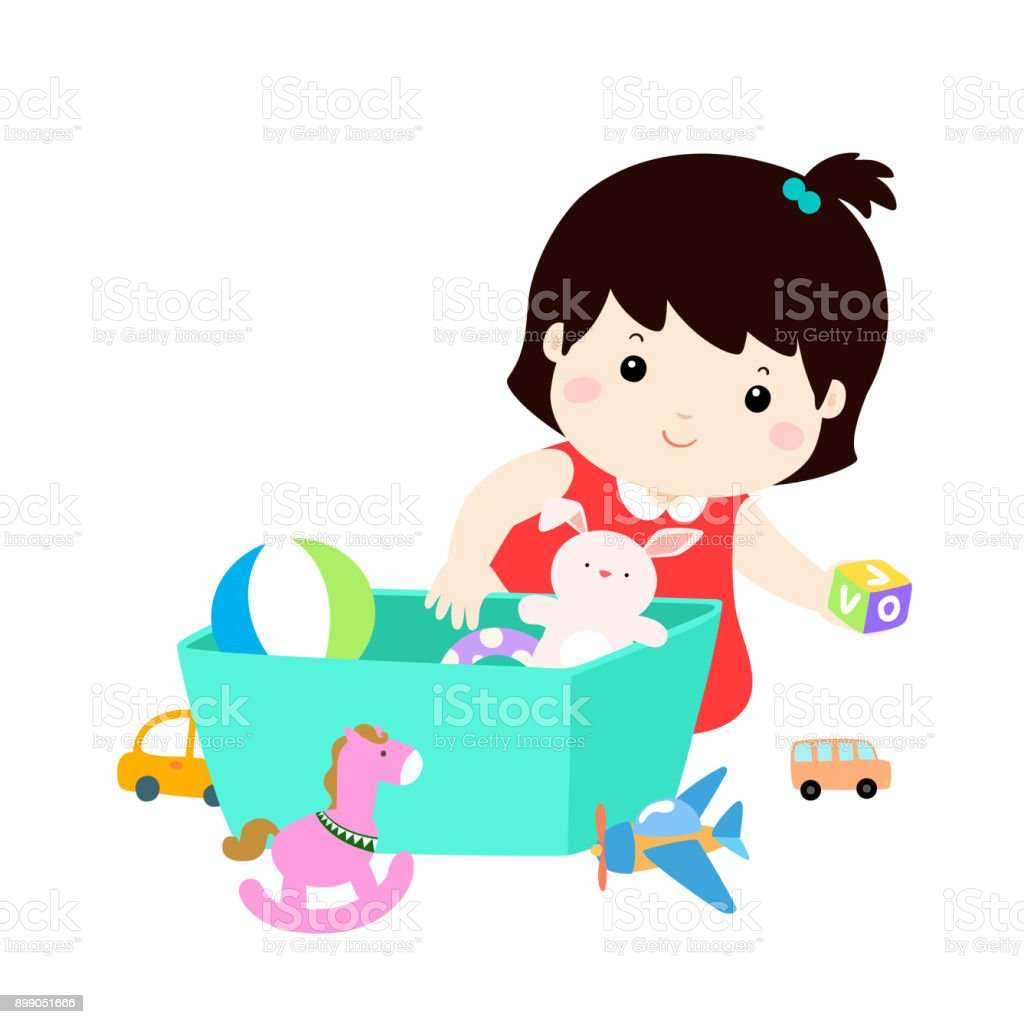 royalty free tidy up toys clip art vector images illustrations rh istockphoto com child picking up toys clipart