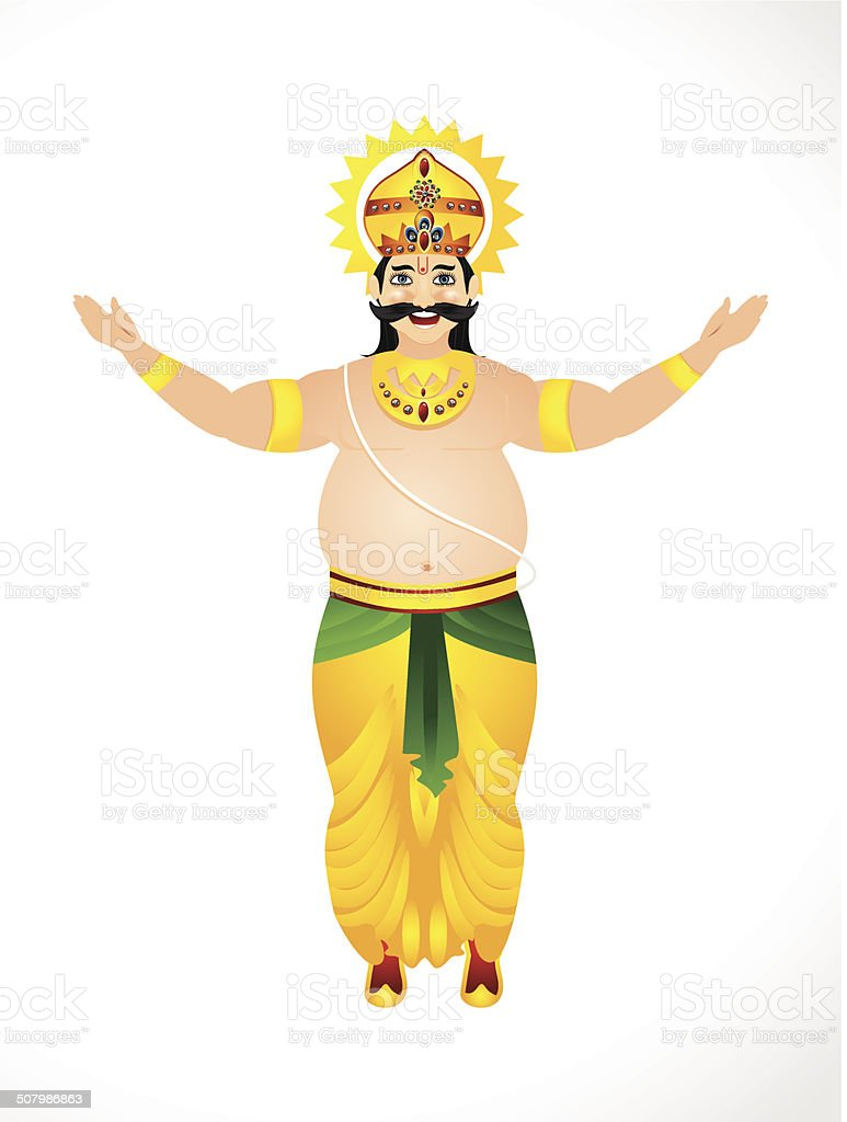 illustration of King Mahabali vector art illustration