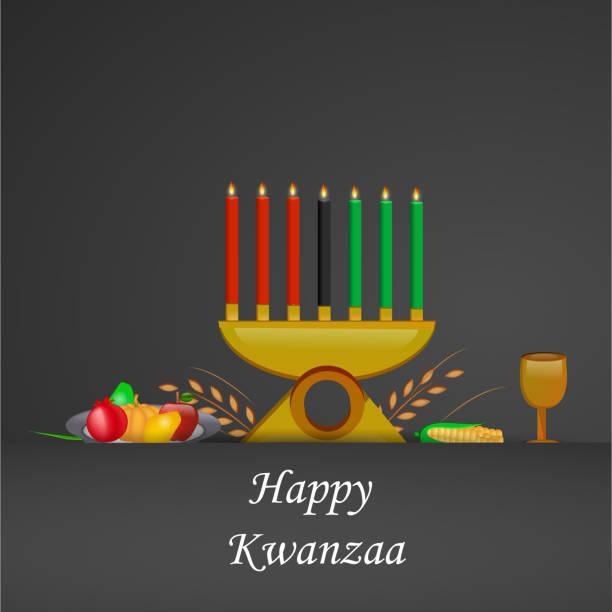 illustration of kwanzaa background - kwanzaa stock illustrations