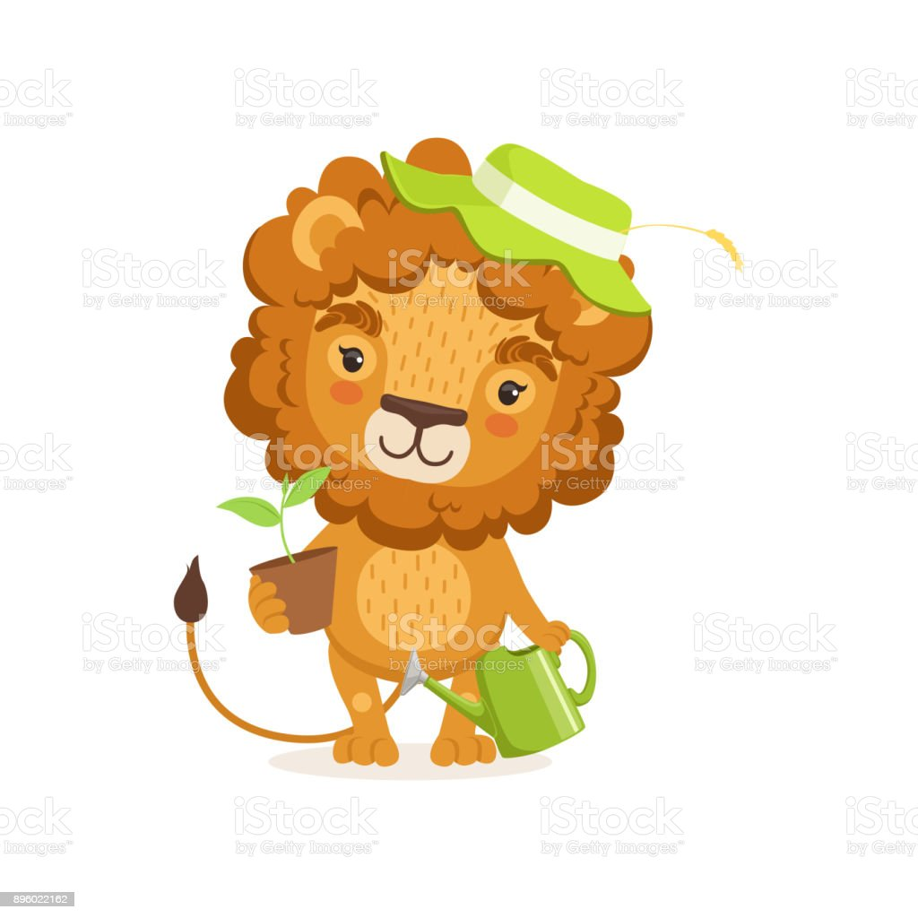 メガネと足のブリーフケースを使って正式な服を身に着けているライオンの