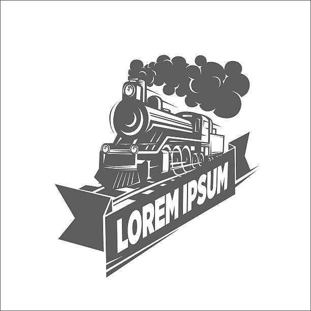 illustrazioni stock, clip art, cartoni animati e icone di tendenza di illustration of locomotive, logotype. - subway