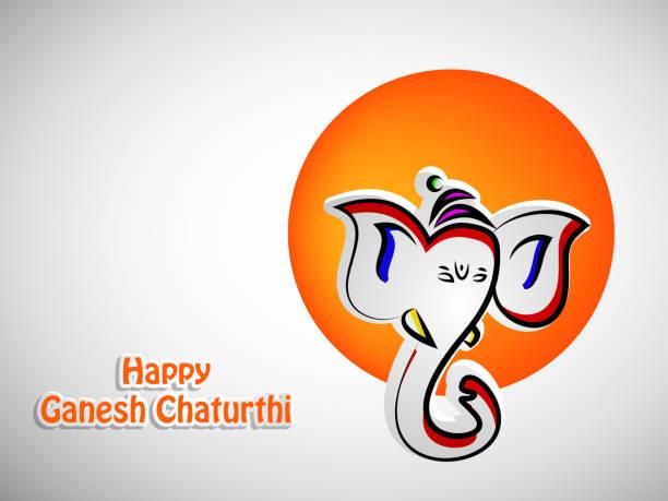 illustration von lord ganesha für die hinduistische festival gefeiert ganesh chaturthi in indien - ganesh stock-grafiken, -clipart, -cartoons und -symbole