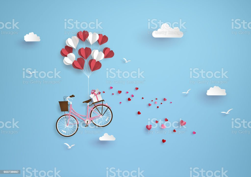 Illustration of love and valentine day - Royalty-free Balloon stock vector