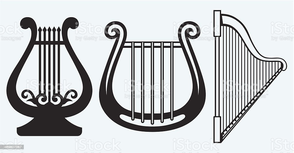 Illustration of lyre royalty-free stock vector art