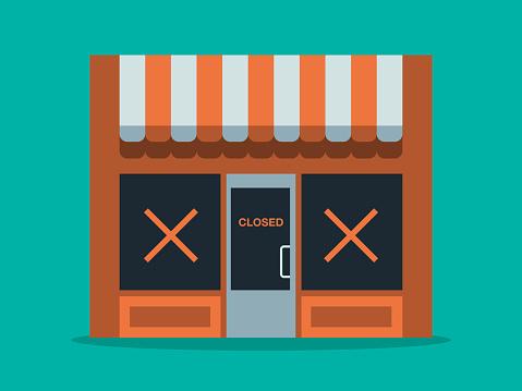 Illustration of main street store closure