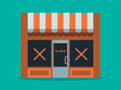 istock Illustration of main street store closure 1218858731