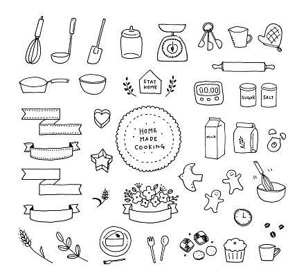 Illustration of making sweets with a pen