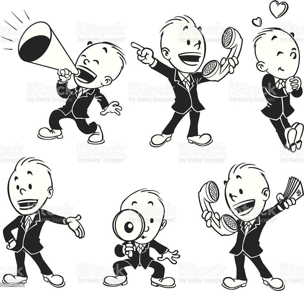 Illustration of man doing various things in set royalty-free illustration of man doing various things in set stock vector art & more images of activity