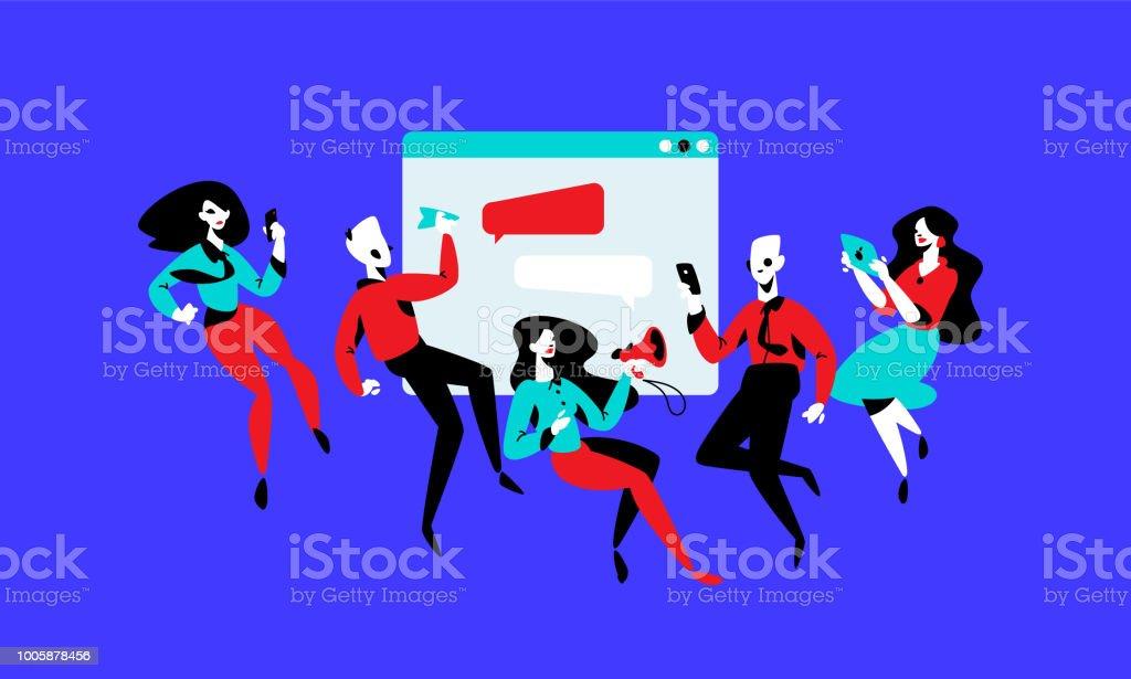 Illustration des gestionnaires sur l arrière-plan de l interface.  Illustration de 67385aba5634