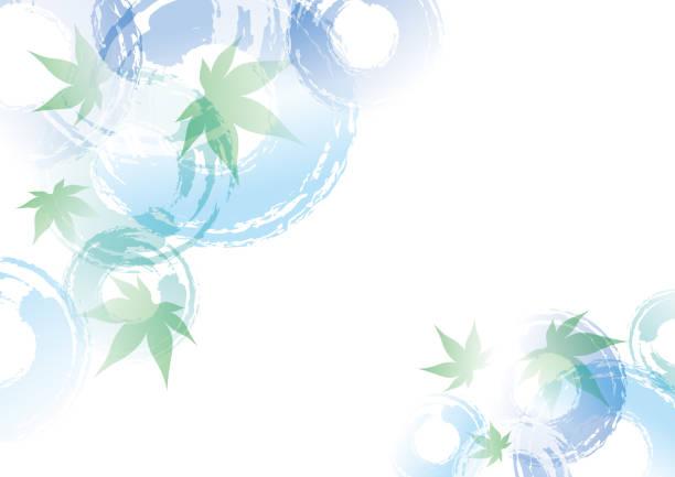 カエデとリップルのイラスト - パターンや背景点のイラスト素材/クリップアート素材/マンガ素材/アイコン素材