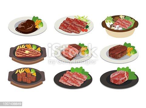 istock Illustration of meat dish 1207436649