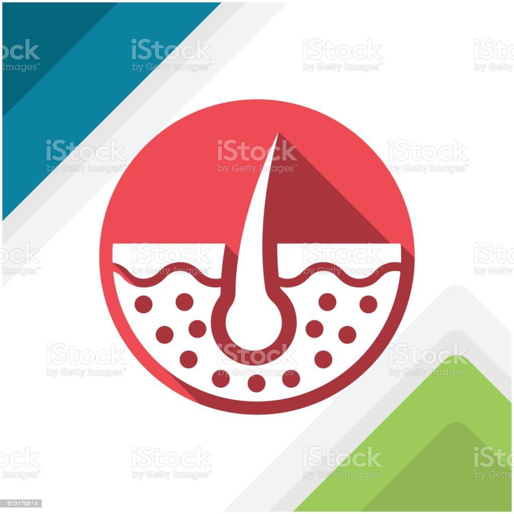 Darstellung der medizinischen Symbol für Haut – Vektorgrafik