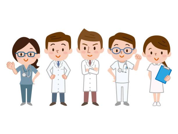 ilustrações, clipart, desenhos animados e ícones de ilustração da equipe médica - enfermeira