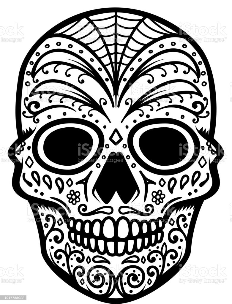 Illustration Of Mexican Sugar Skull Day Of The Dead Dia De Los Muertos Design Element For Label Emblem Sign Poster T Shirt Stock Illustration Download Image Now Istock