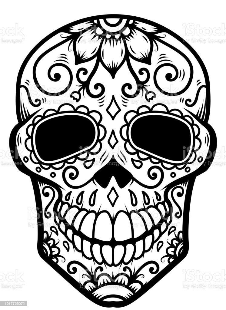メキシコの骸骨のイラスト死者の日dia デ ロス ムエルトスラベル