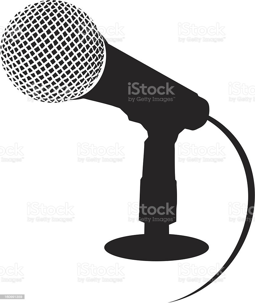 Illustration of microphone isolated on white royalty-free illustration of microphone isolated on white stock vector art & more images of arts culture and entertainment