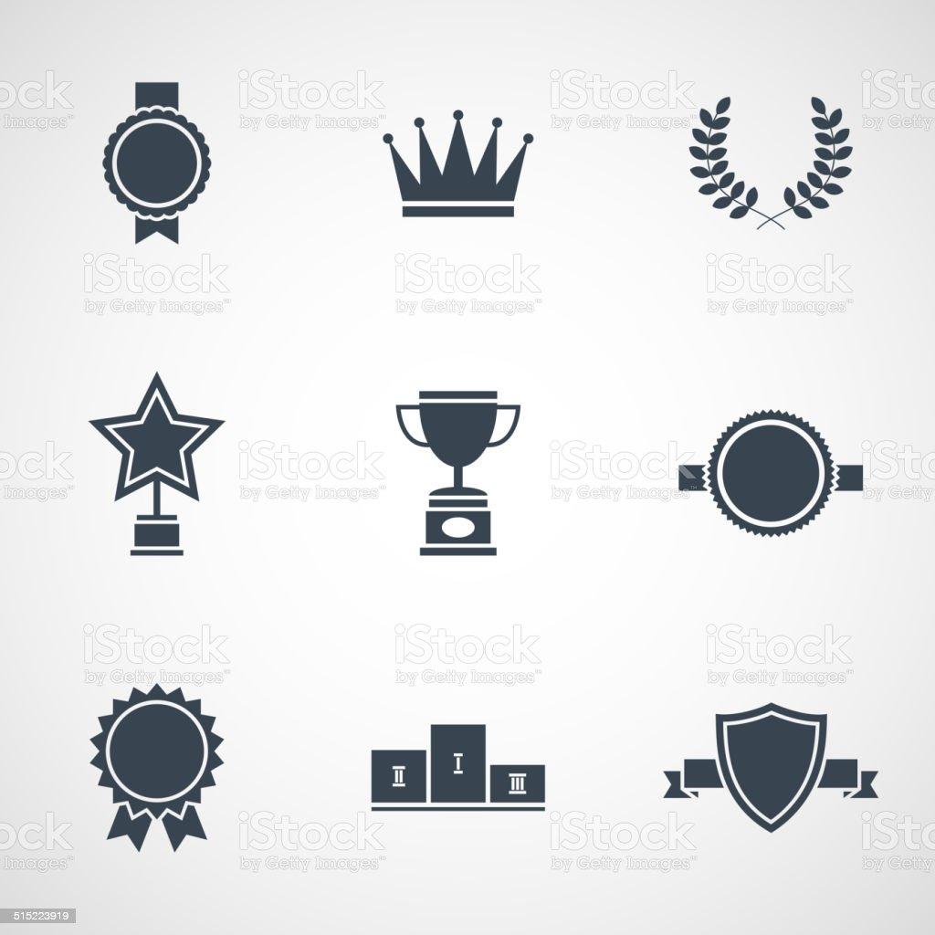 Illustration moderne plat design awards - Illustration vectorielle
