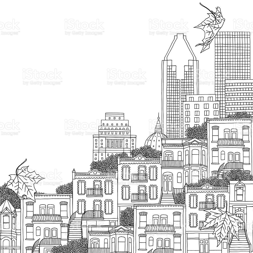 Illustration of Montreal royalty-free illustration of montreal stock vector art & more images of apartment