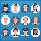 Illustration of a group of people in multiple professions