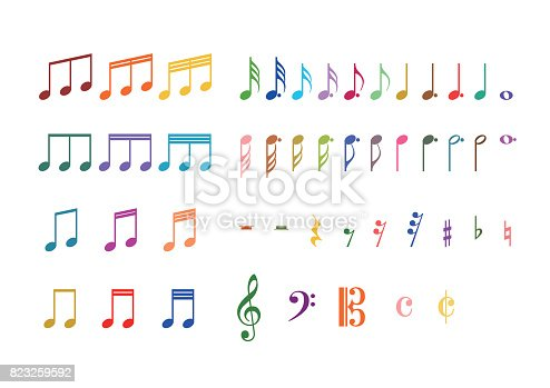 Illustration of musical note