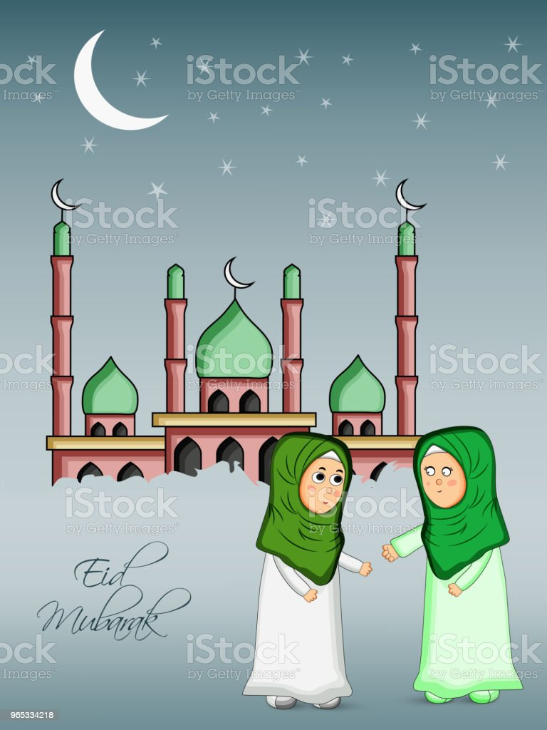 Illustration of Muslim festival Eid background royalty-free illustration of muslim festival eid background stock illustration - download image now
