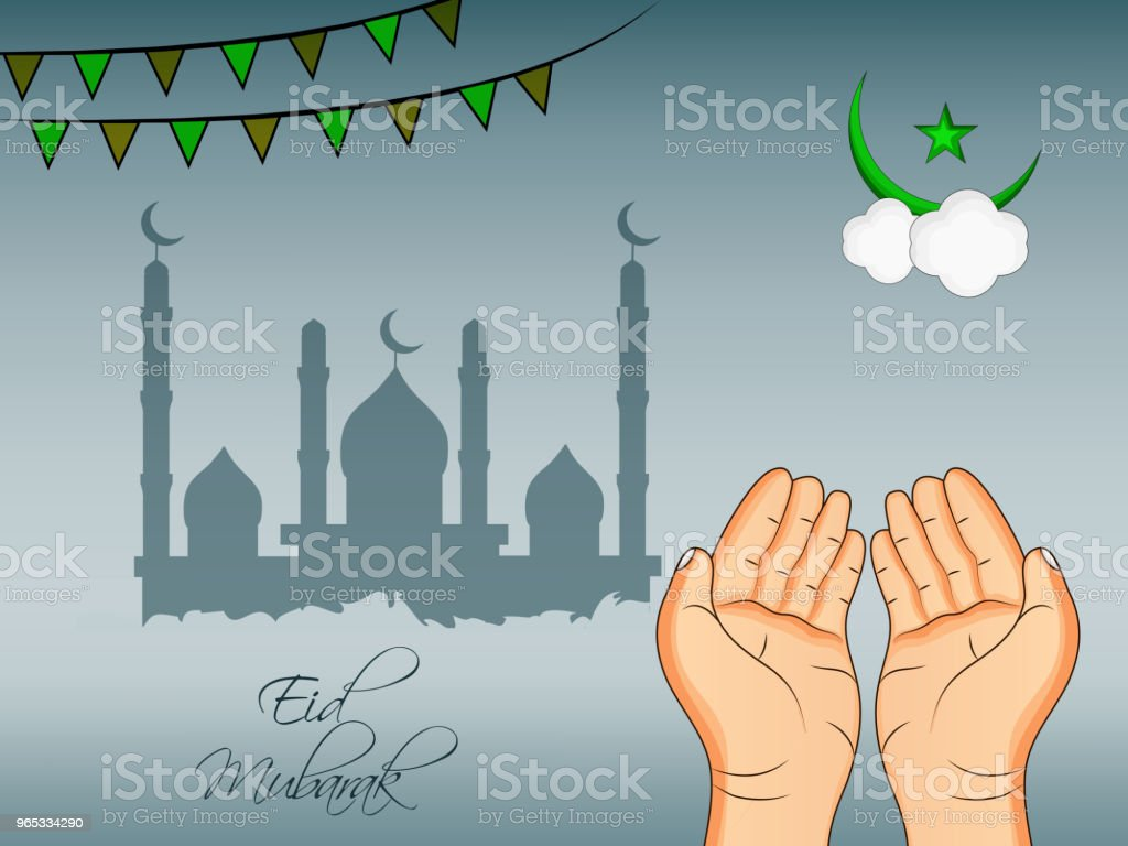 Illustration of Muslim festival Eid background illustration of muslim festival eid background - stockowe grafiki wektorowe i więcej obrazów abstrakcja royalty-free