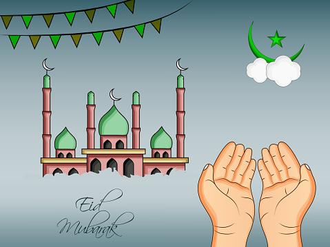 穆斯林節日開齋節背景插圖向量圖形及更多伊斯蘭教圖片