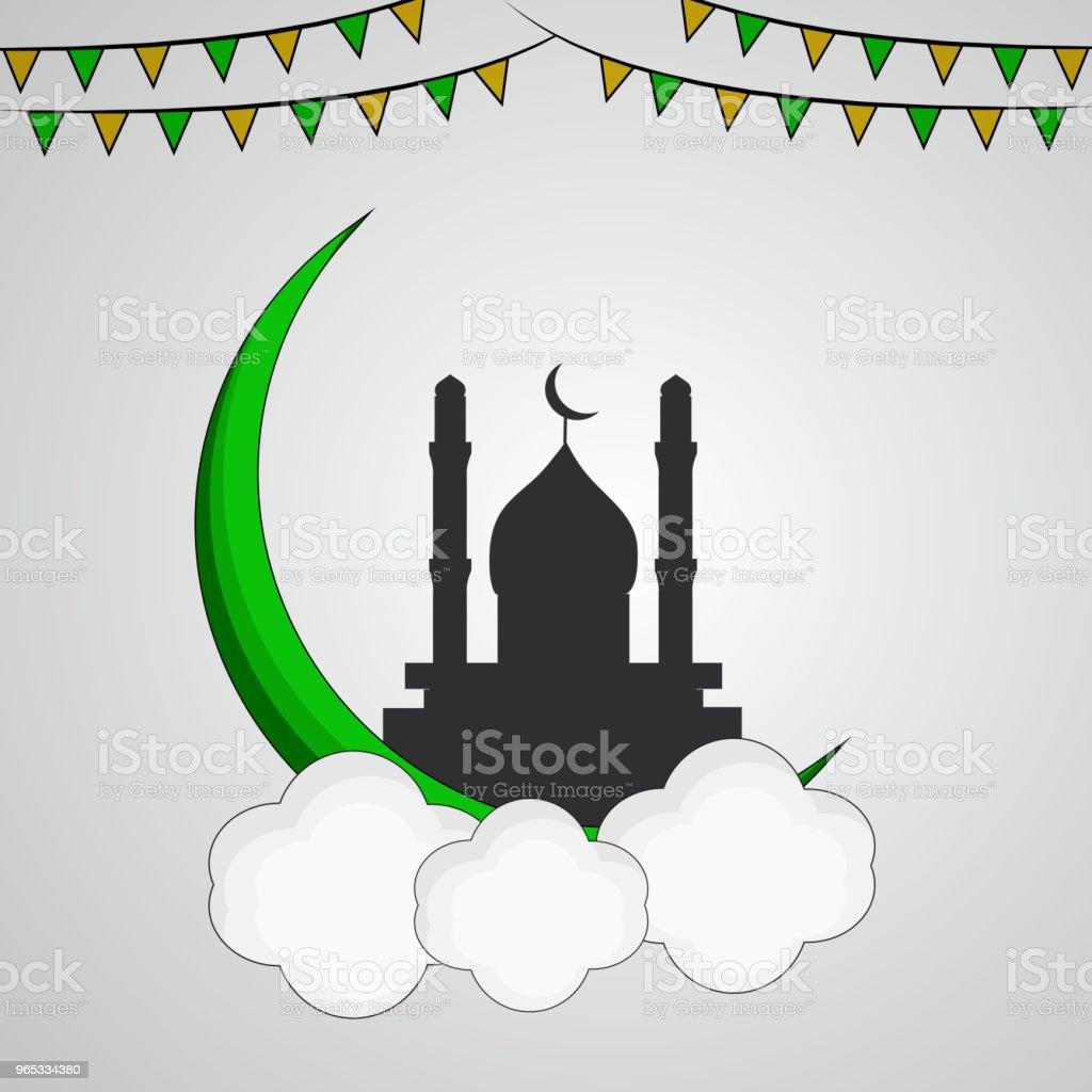 Illustration of Muslim festival Eid background illustration of muslim festival eid background - stockowe grafiki wektorowe i więcej obrazów abstrakcja royalty-free