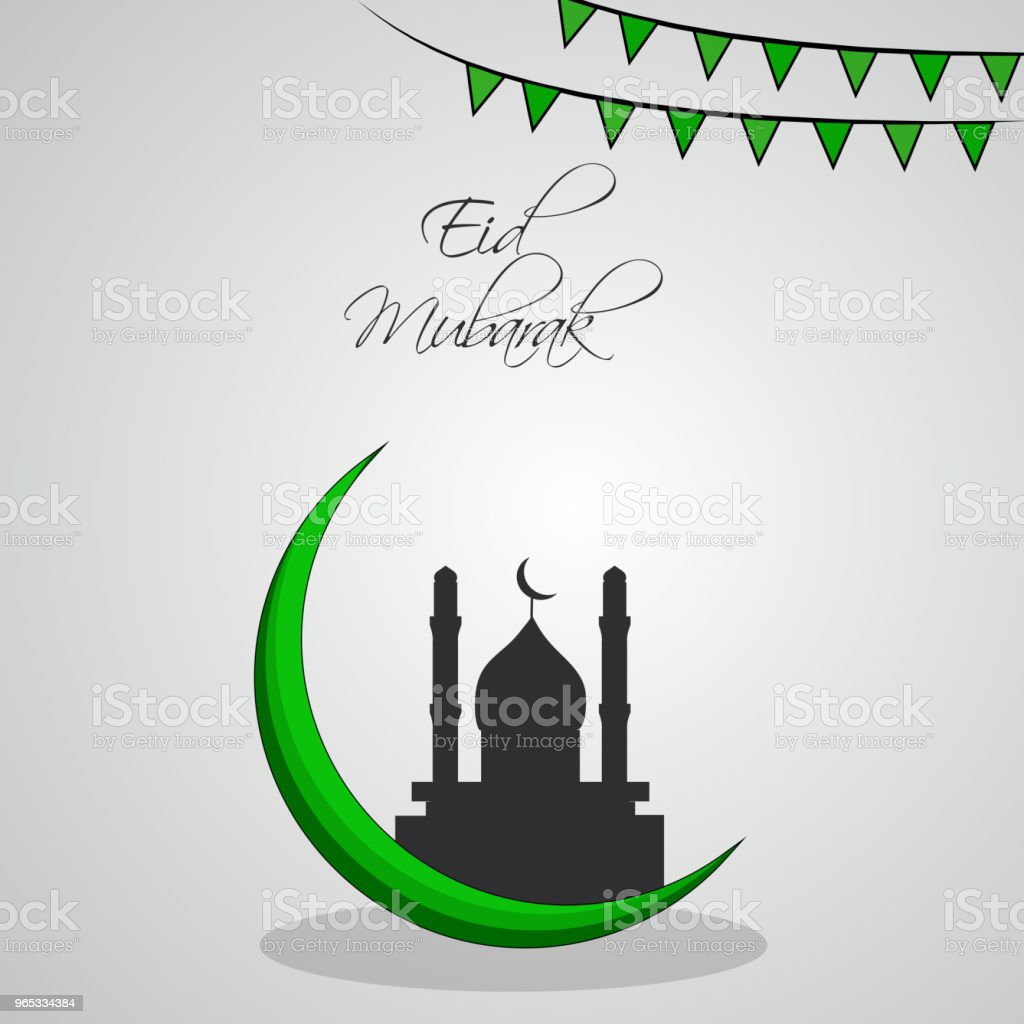 穆斯林節日開齋節背景插圖 - 免版稅伊斯蘭教圖庫向量圖形