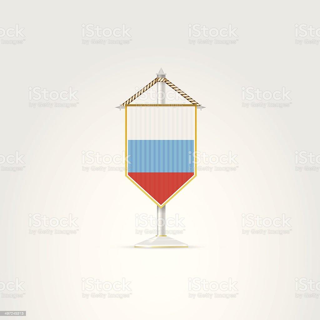 Illustration of national symbols of Eurasian countries. Russia. vector art illustration