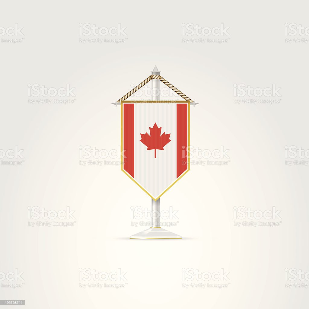 Illustration of national symbols of North America countries. Canada. vector art illustration