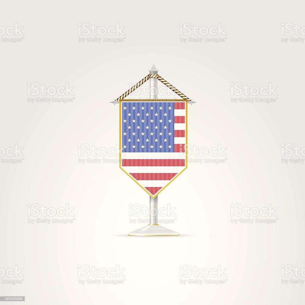 Illustration of national symbols of North America countries. USA. vector art illustration