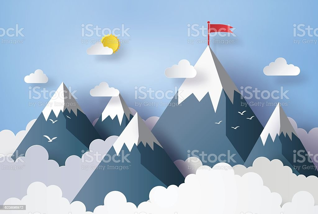 illustration of nature landscape and concept of business. vector art illustration