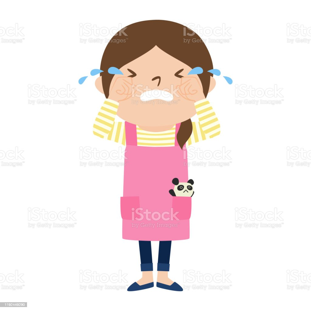職業のイラスト女子保育士泣いている女性 1人のベクターアート素材や画像を多数ご用意 Istock