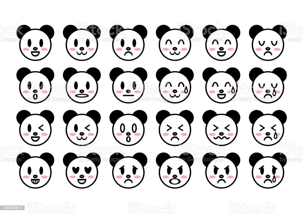 Panda(face) のイラスト ベクターアートイラスト
