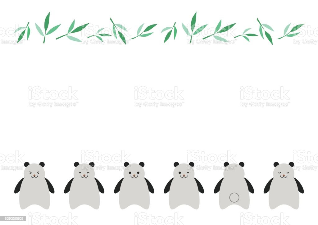 Illustration of panda vector art illustration