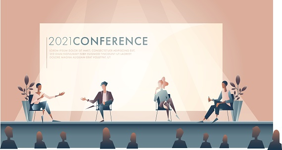 Illustration of panel discussion